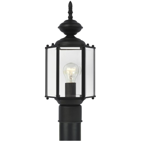 Classico One Light Outdoor Post Lantern Black