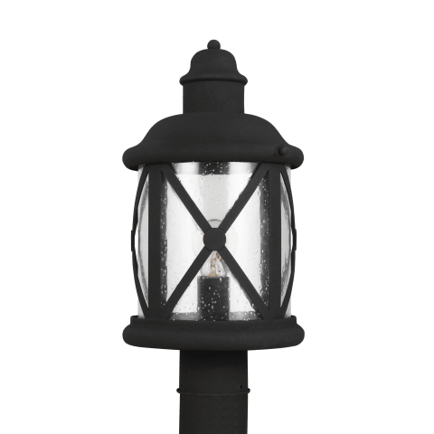 Lakeview One Light Outdoor Post Lantern Black