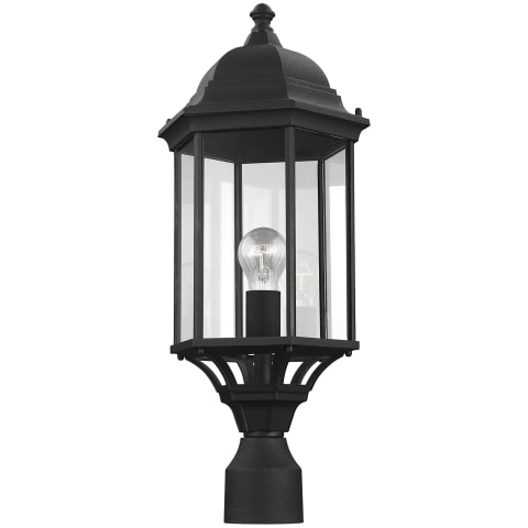 Sevier Large One Light Outdoor Post Lantern Black