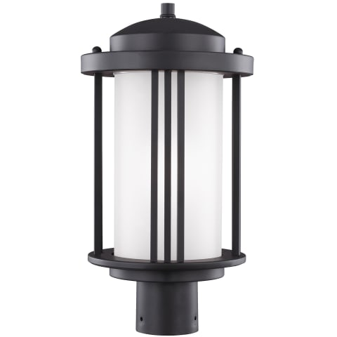 Crowell One Light Outdoor Post Lantern Black Bulbs Inc