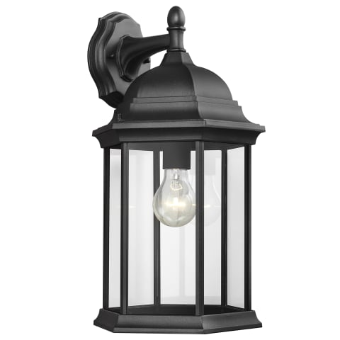 Sevier Large One Light Downlight Outdoor Wall Lantern Black