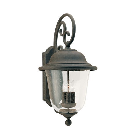 Trafalgar Three Light Outdoor Wall Lantern Oxidized Bronze Bulbs Inc