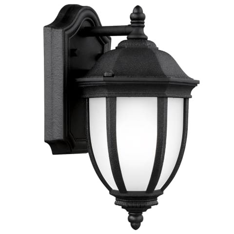 Galvyn Small One Light Outdoor Wall Lantern Black Bulbs Inc