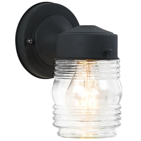 One Light Lantern Black