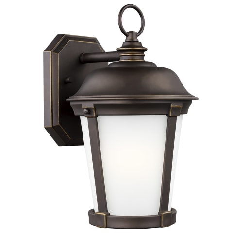 Calder Medium One Light Outdoor Wall Lantern Antique Bronze