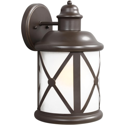 Lakeview Large One Light Outdoor Wall Lantern Antique Bronze Bulbs Inc