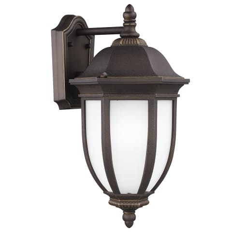 Galvyn Large One Light Outdoor Wall Lantern Antique Bronze Bulbs Inc