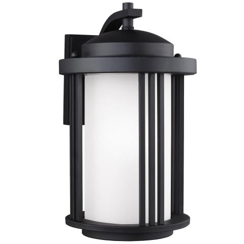 Crowell Medium One Light Outdoor Wall Lantern Black Bulbs Inc