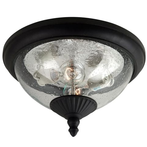 Lambert Hill Two Light Outdoor Flush Mount Oxford Bronze