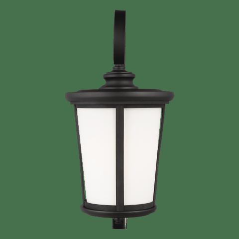 Eddington Extra Large One Light Outdoor Wall Lantern Black