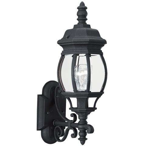 Wynfield One Light Outdoor Wall Lantern Black