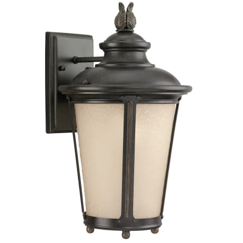 Cape May  Medium One Light Outdoor Wall Lantern Burled Iron Bulbs Inc