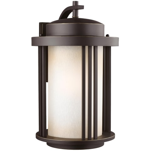 Crowell Large One Light Outdoor Wall Lantern Antique Bronze Bulbs Inc