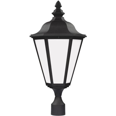 Brentwood One Light Outdoor Post Lantern Black
