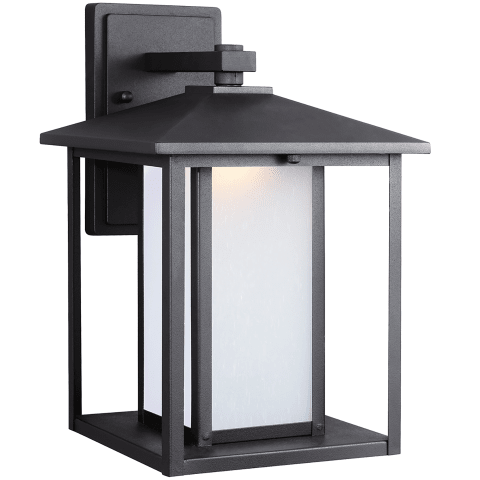 Hunnington One Light Outdoor Wall Lantern Black