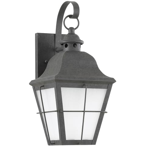Chatham One Light Outdoor Wall Lantern Oxidized Bronze