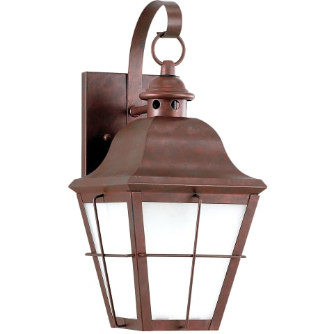 Chatham One Light Outdoor Wall Lantern Weathered Copper Bulbs Inc