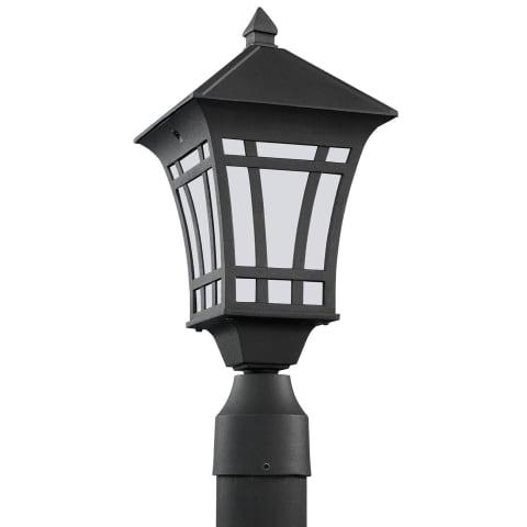 Herrington One Light Outdoor Post Lantern Black Bulbs Inc