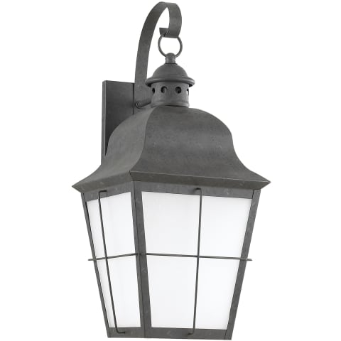 Chatham One Light Outdoor Wall Lantern Oxidized Bronze Bulbs Inc