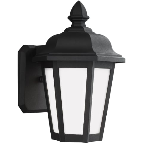 Brentwood Small One Light Outdoor Wall Lantern Black Bulbs Inc