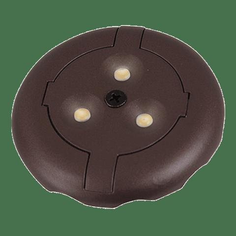 3 Light LED Disk Kit 2700K Plated Bronze