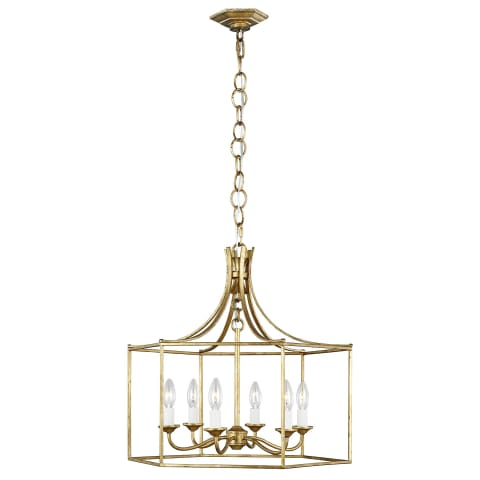 Bantry House 6 - Light Lantern Antique Gild