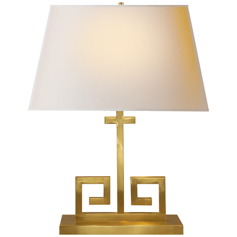 Kate Table Lamp in Natural Brass with Natural Paper Shade
