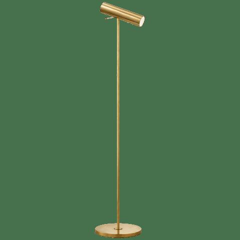 Lancelot Pivoting Floor Lamp in Hand-Rubbed Antique Brass