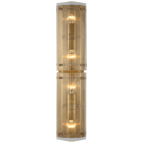 """Clayton 25"""" Sconce in Crystal"""