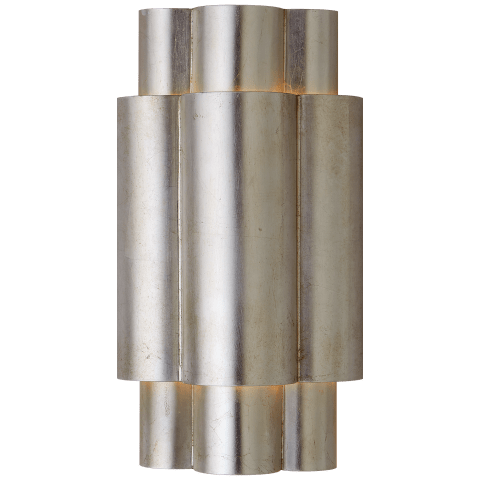 Arabelle Medium Sconce in Burnished Silver Leaf