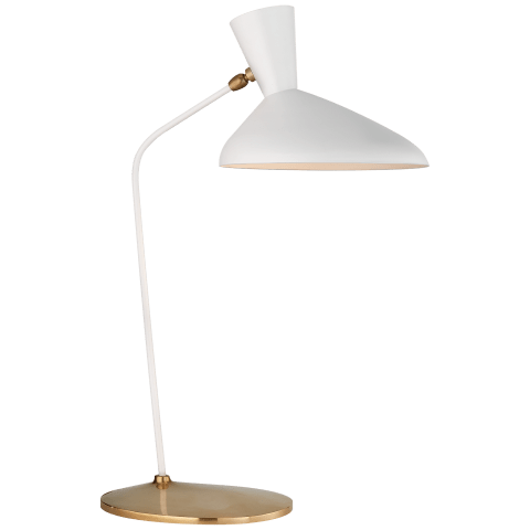 Austen Large Offset Table Lamp in White