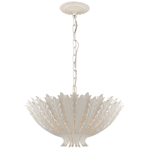 Hampton Medium Chandelier in Plaster White