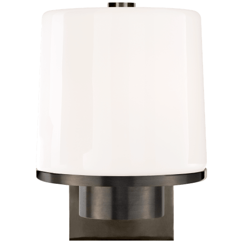 Sumo Sconce in Bronze with White Glass
