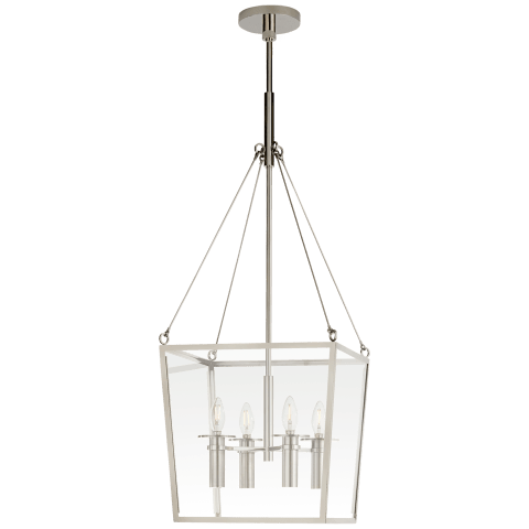 Cochere Medium Lantern in Polished Nickel