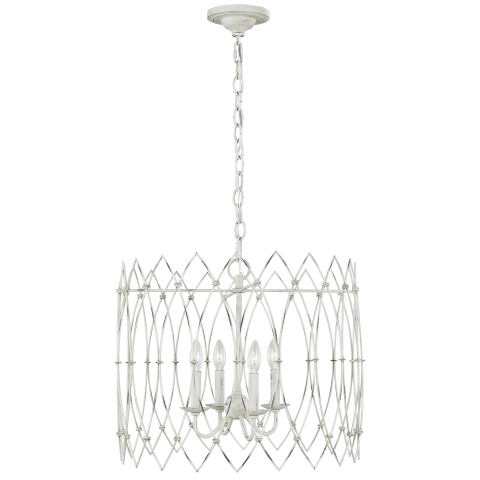 Gardner 4 - Light Chandelier Rustic White