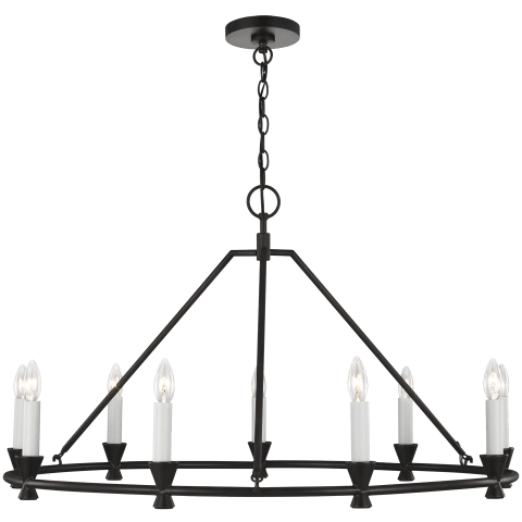 Keystone Medium Chandelier Aged Iron