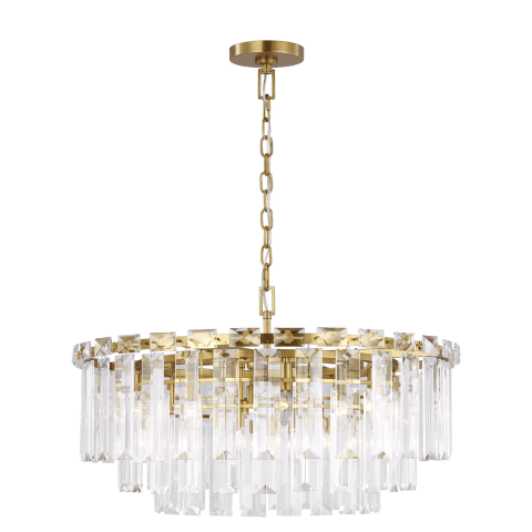 Arden Large Chandelier Burnished Brass