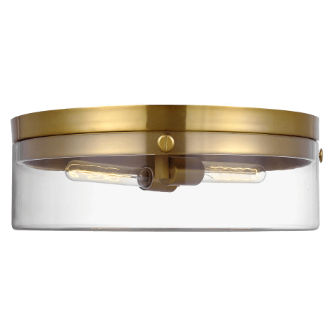 Garrett 2 - Light Large Flush Mount Burnished Brass