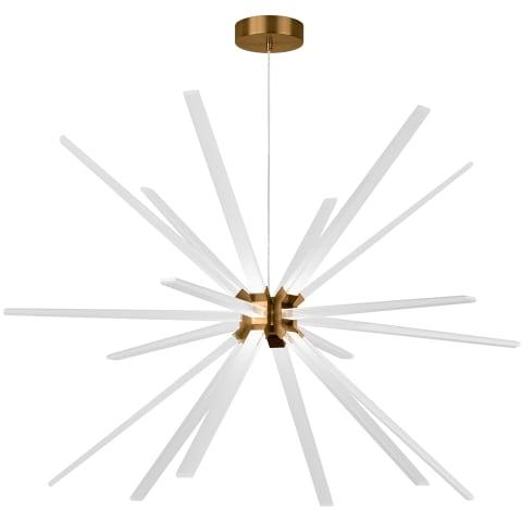 Photon 48 Chandelier aged brass 3000K 90 CRI  led module 35.1w 90 cri 3000k 120v