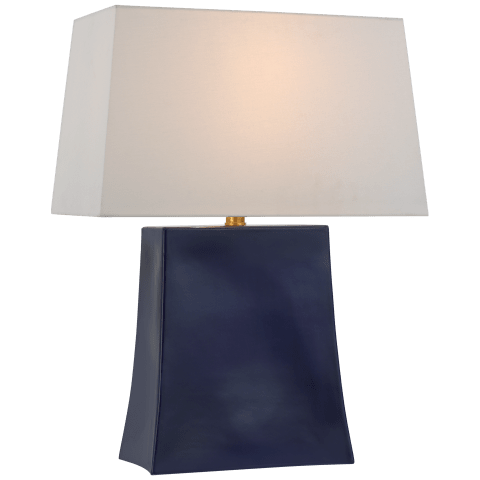 Lucera Medium Table Lamp in Denim with Linen Shade