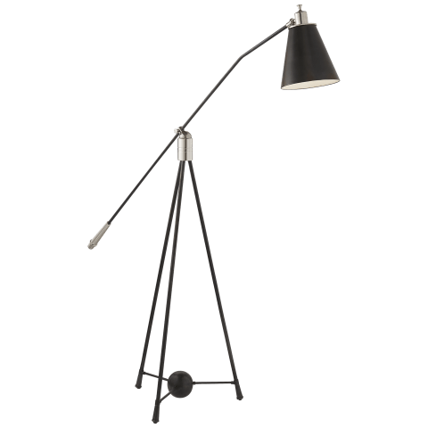 Magneto Floor Lamp in Polished Nickel and Bronze
