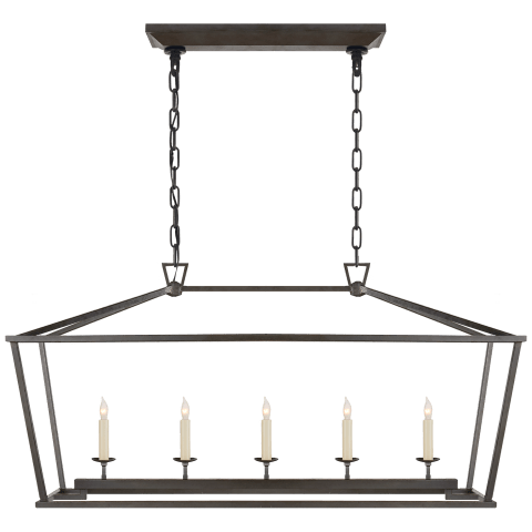 Darlana Medium Linear Lantern in Aged Iron