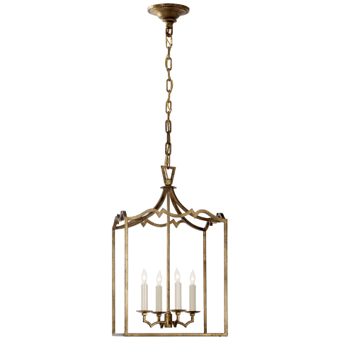 Darlana Small Fancy Lantern in Gilded Iron