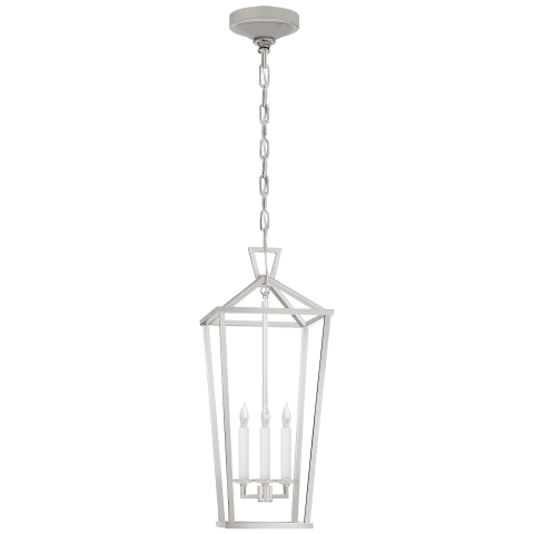 Darlana Large Tall Lantern in Polished Nickel
