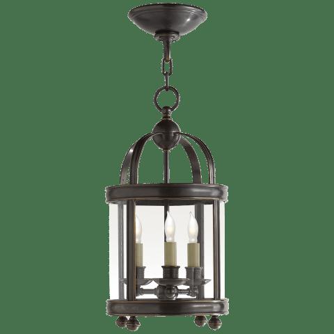 Edwardian Arch Top Mini Lantern in Bronze