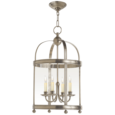 Edwardian Arch Top Small Lantern in Antique Nickel