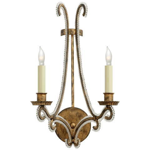 Oslo Sconce in Gilded Iron with Clear Glass