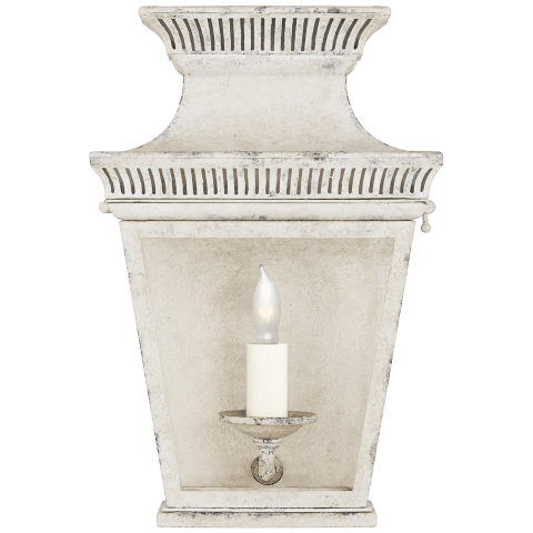 Elsinore Small 3/4 Wall Lantern in Old White with Clear Glass