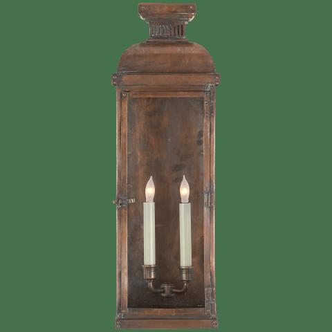Suffork Tall 3/4 Lantern in Natural Copper