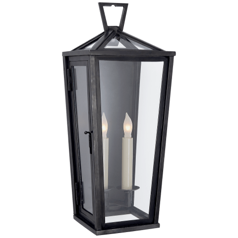 Darlana Small Tall 3/4 Wall Lantern in Bronze